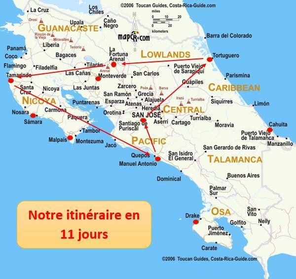 Voyage de noce au Costa Rica: Itinéraire road-trip de 10/12 jours