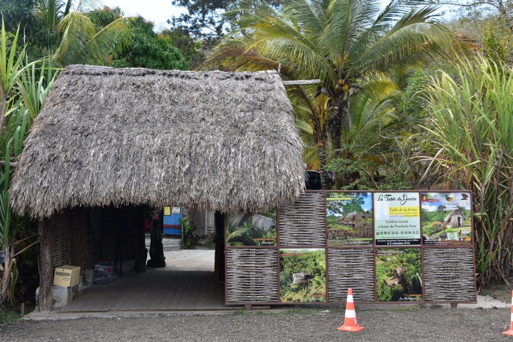 Entrée de la visite de la savane des esclaves en Martinique
