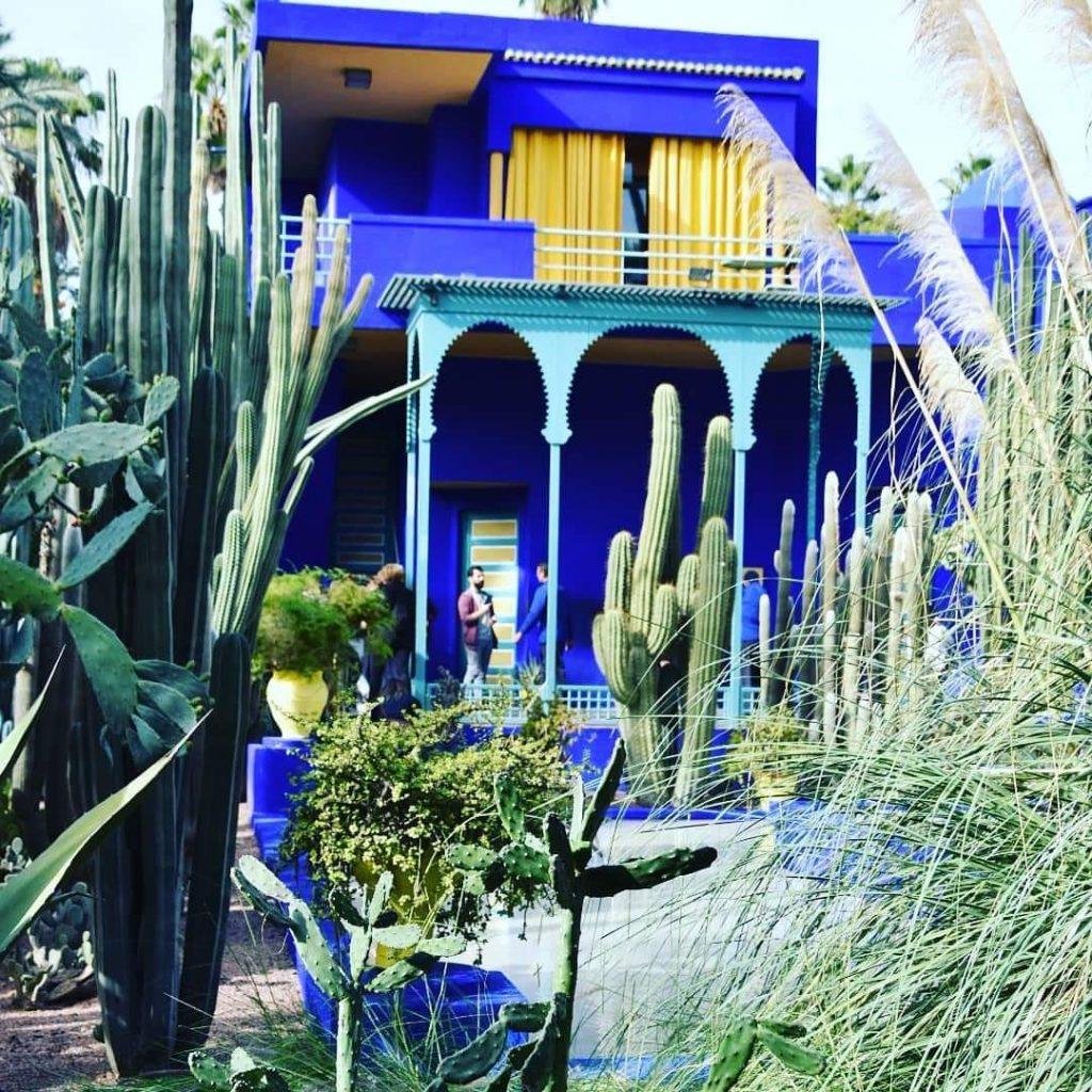 jardin majorelle marrakech villa art déco bleue
